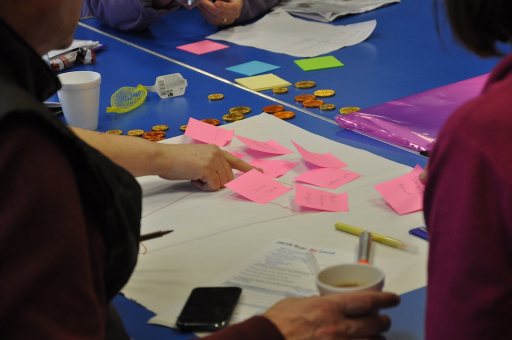 Local economies can be like a leaky bucket - workshop led by nef