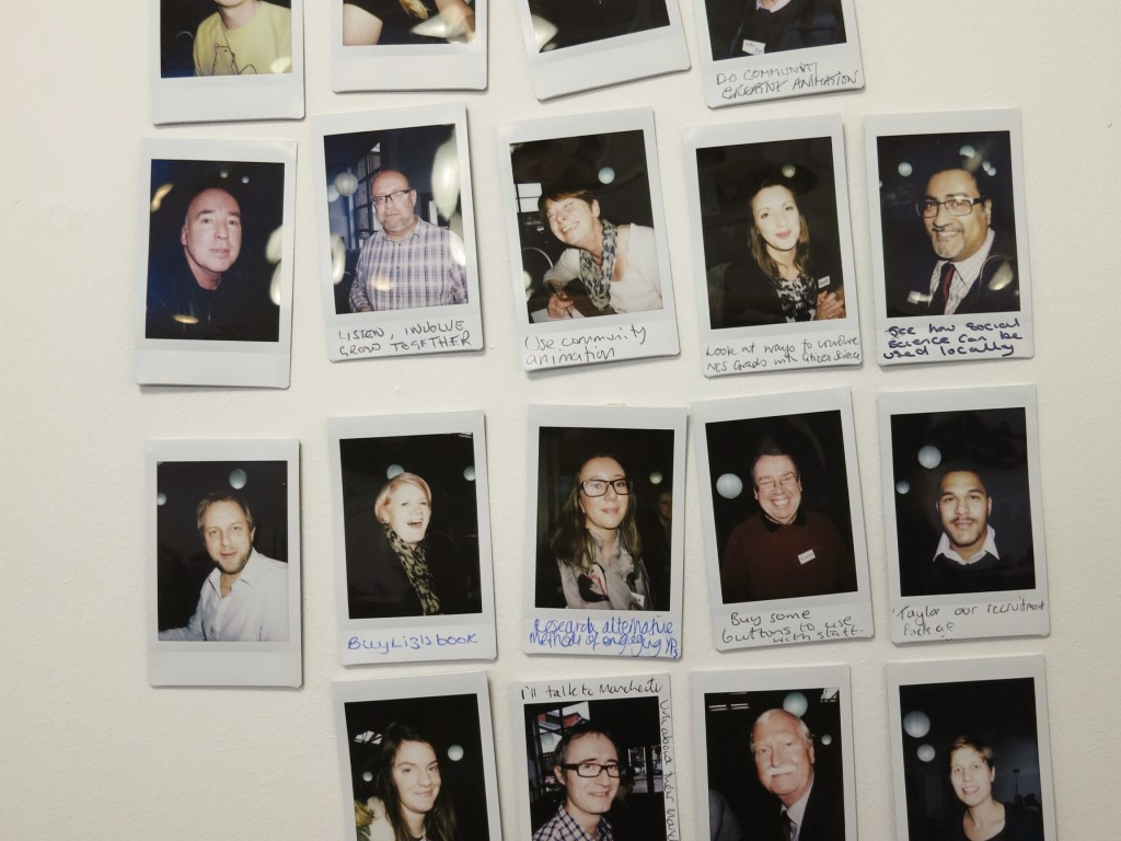 Comments from participants captured on Fuji Instax